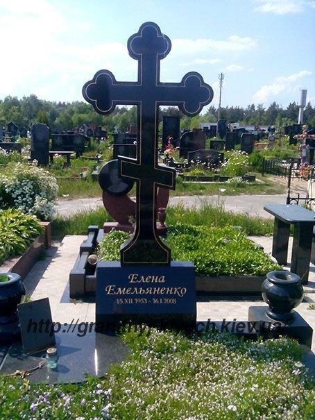 Ритуальные памятники с крестом Эконом памятник Купола с профильной резкой Чаплыгин